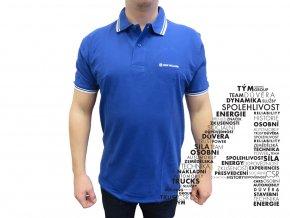 Modré triko s límečkem