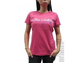 Dámské růžové tričko NEW HOLLAND