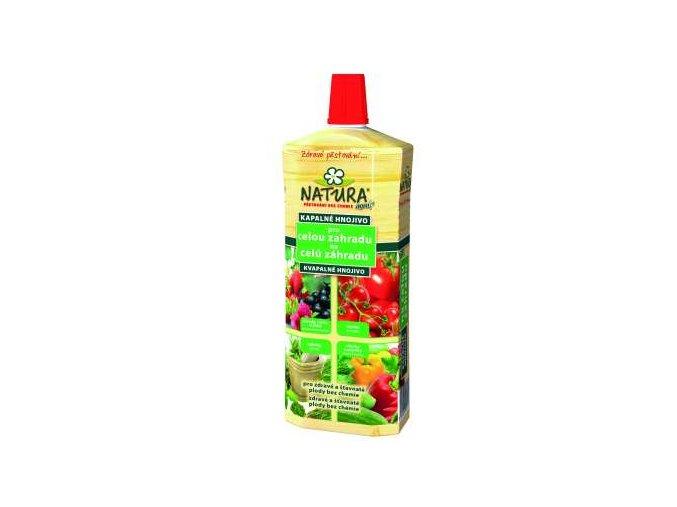 natura kvapalne organicke hnojivo na celu zahradu 1l