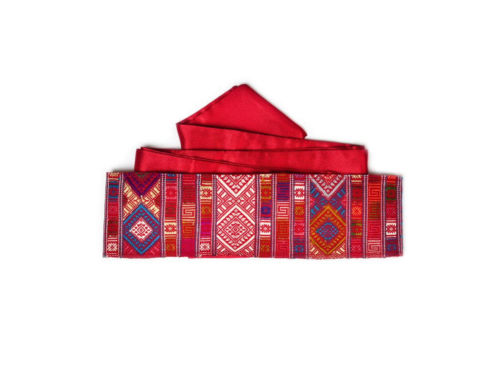 Tkaný pás - rudý