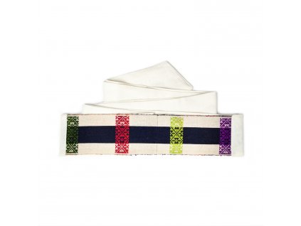 Tkaný pás - červené hrozny