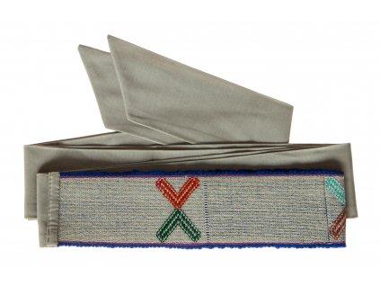 Tkaný pás - Obrazce na šedé