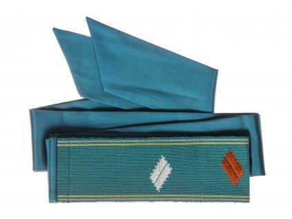 Tkaný pás - tyrkysový