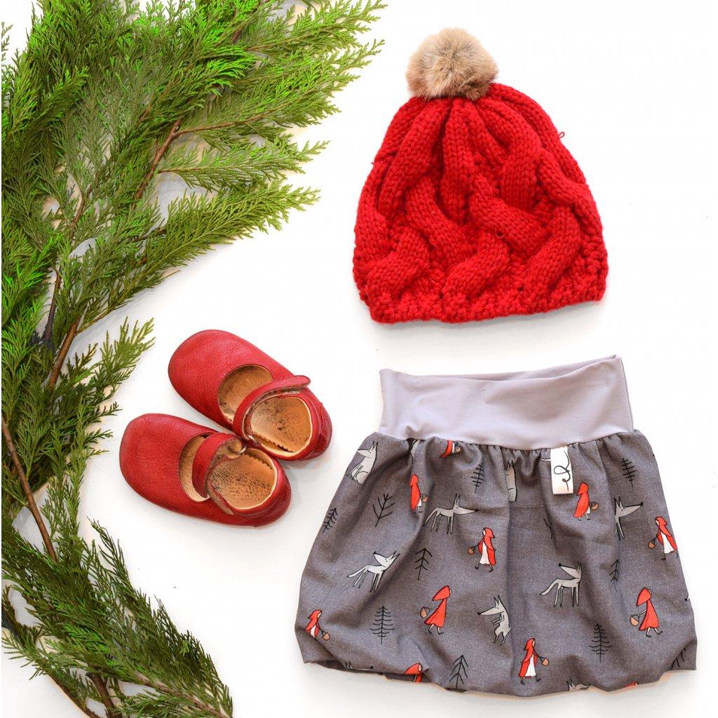 Balů dětská sukně - Červená karkulka