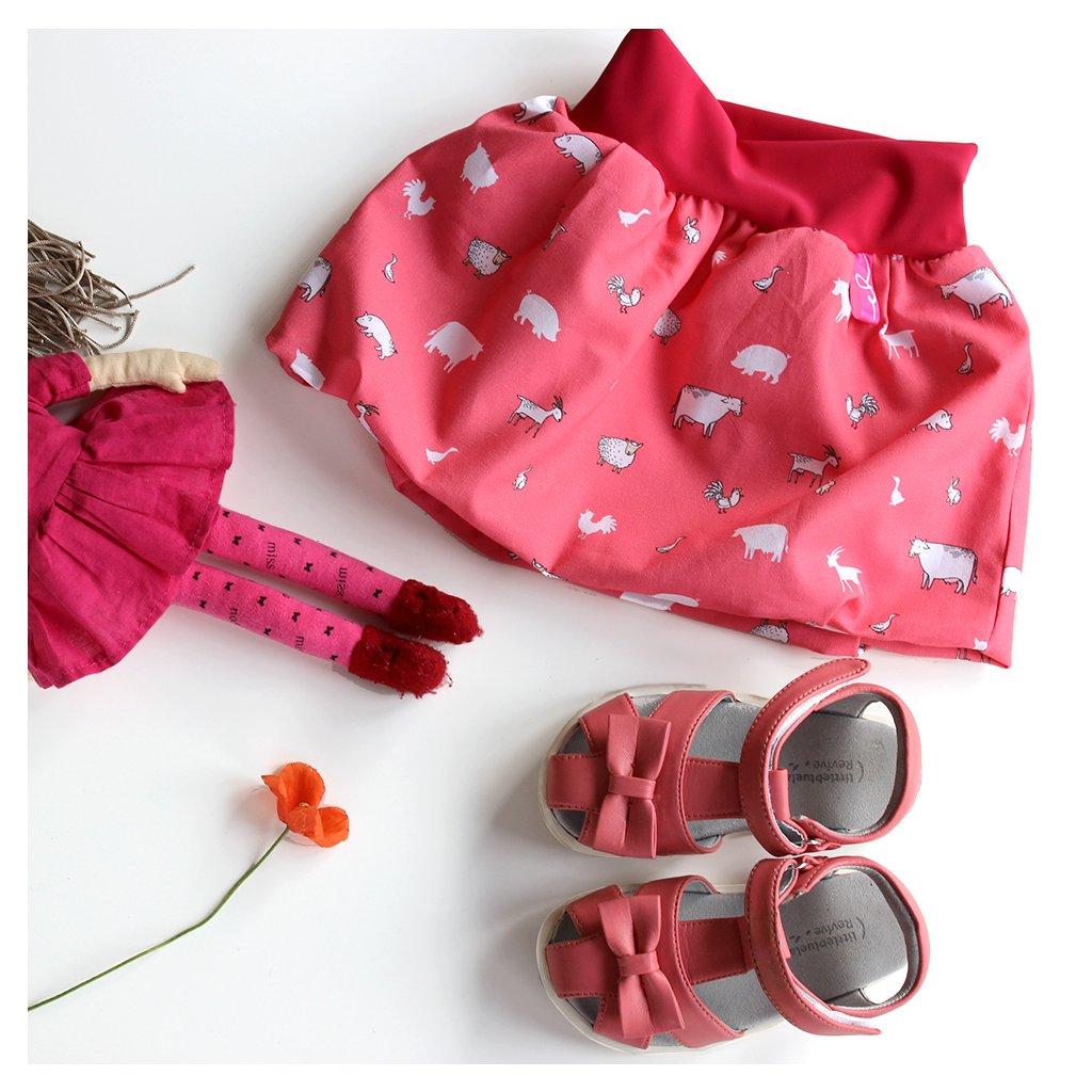 Balů dětská sukně- Domácí zvířátka