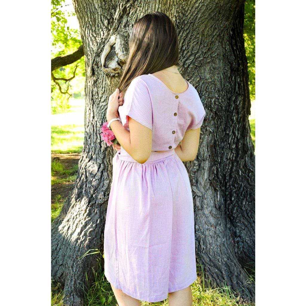 Šaty Laura - starorůžová