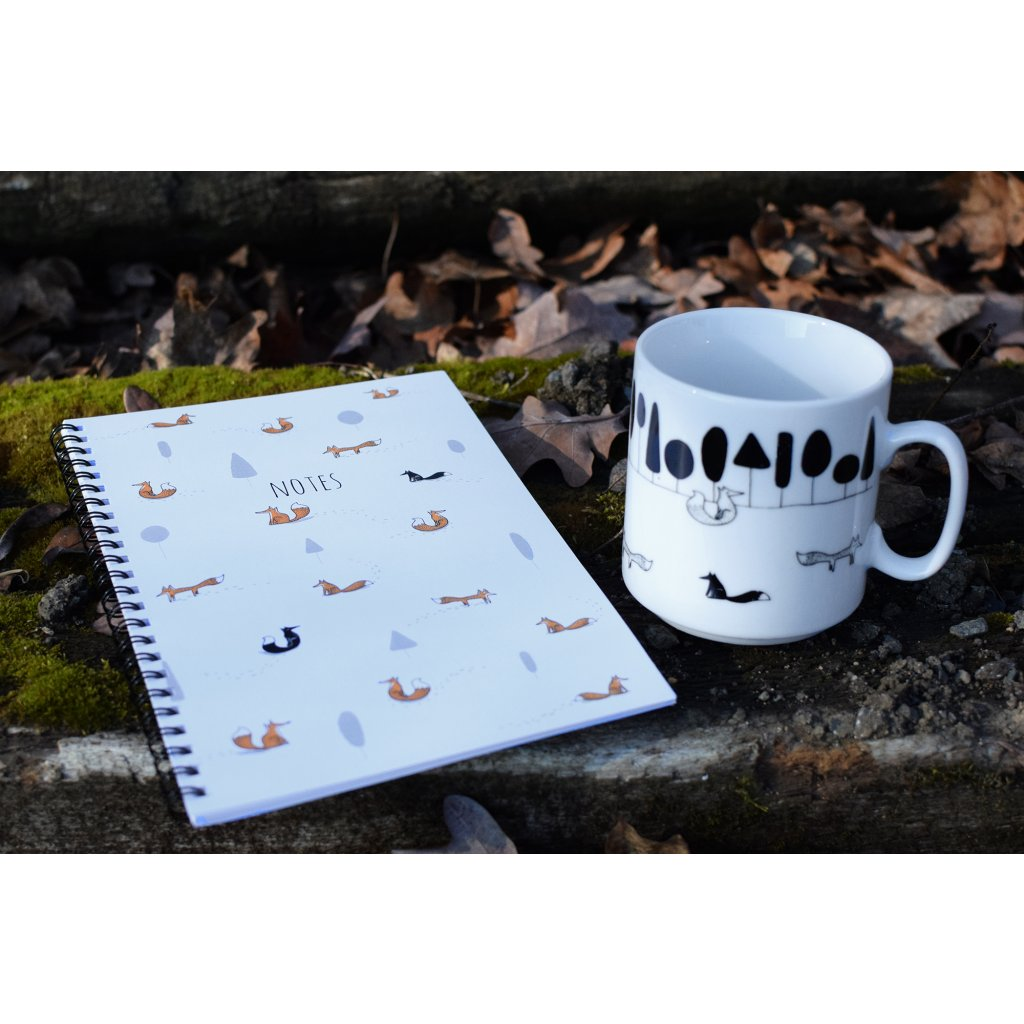 Liščí hrnek + notes