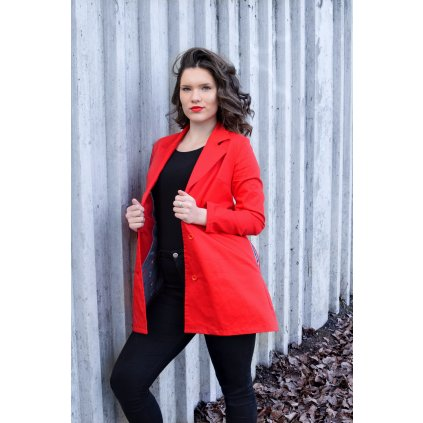 Kabát Marlene - Červený