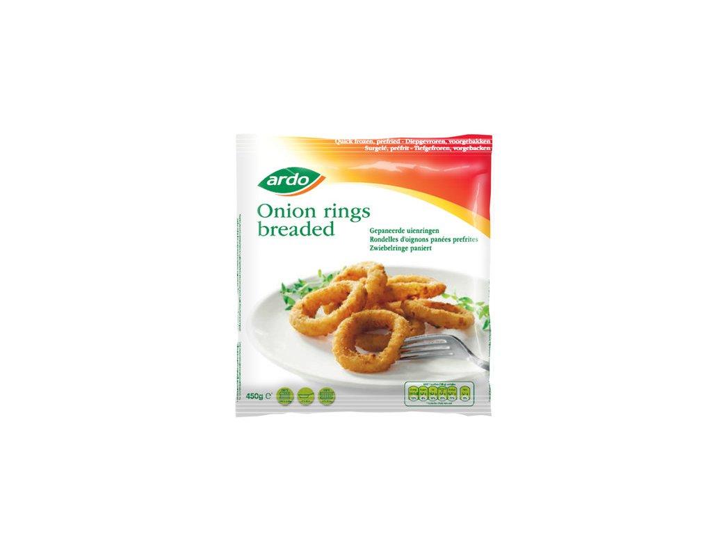 Ardo breaded onion rings pre fried pack