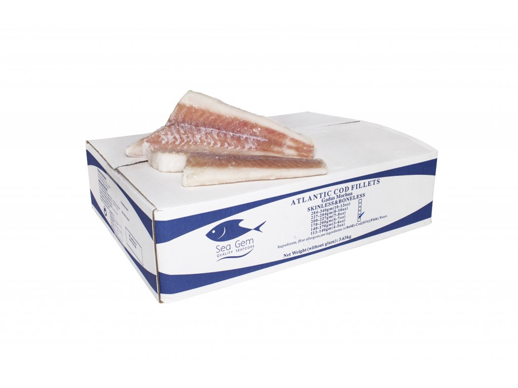 635 atlantic cod fillets 200 230g frozen