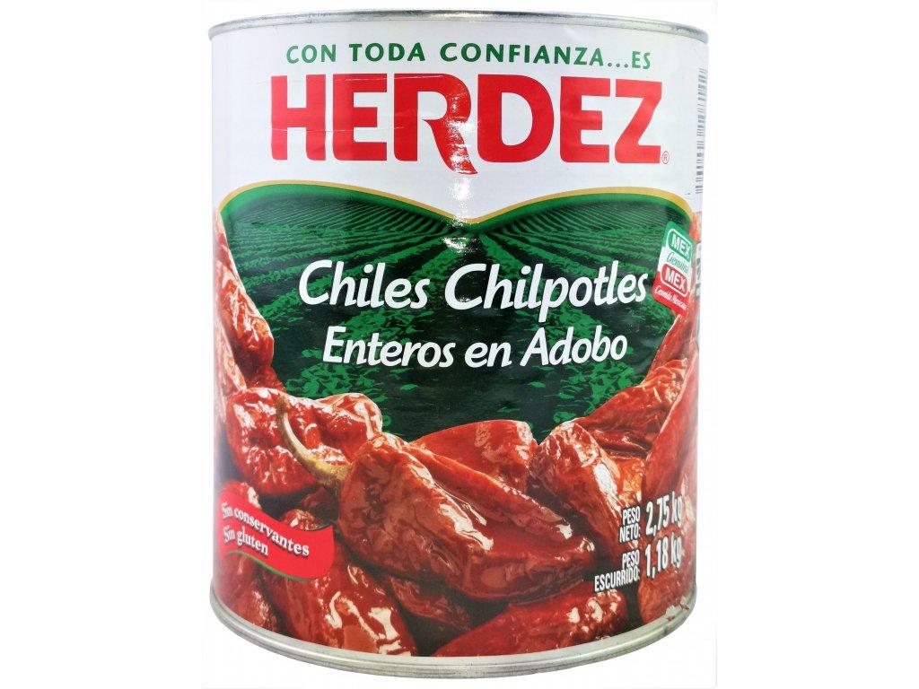 CHA28 Chili Chipotles in Adobo Herdez mariniert 2,8 kg