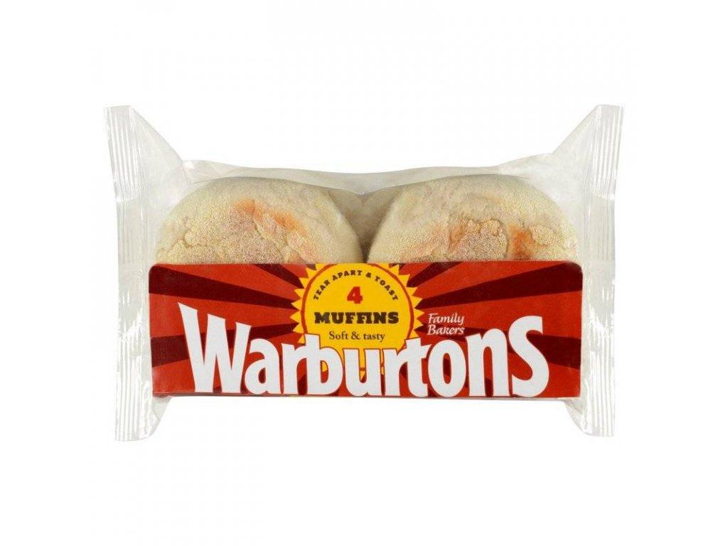 Warburtons Toasting Muffins 4pcs (Pack size 256g)