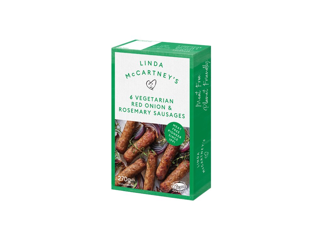 vegetarian red onion rosemary sausages