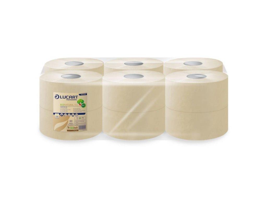 Eko přírodní toaletní papír Jumbo 180m /12 ks