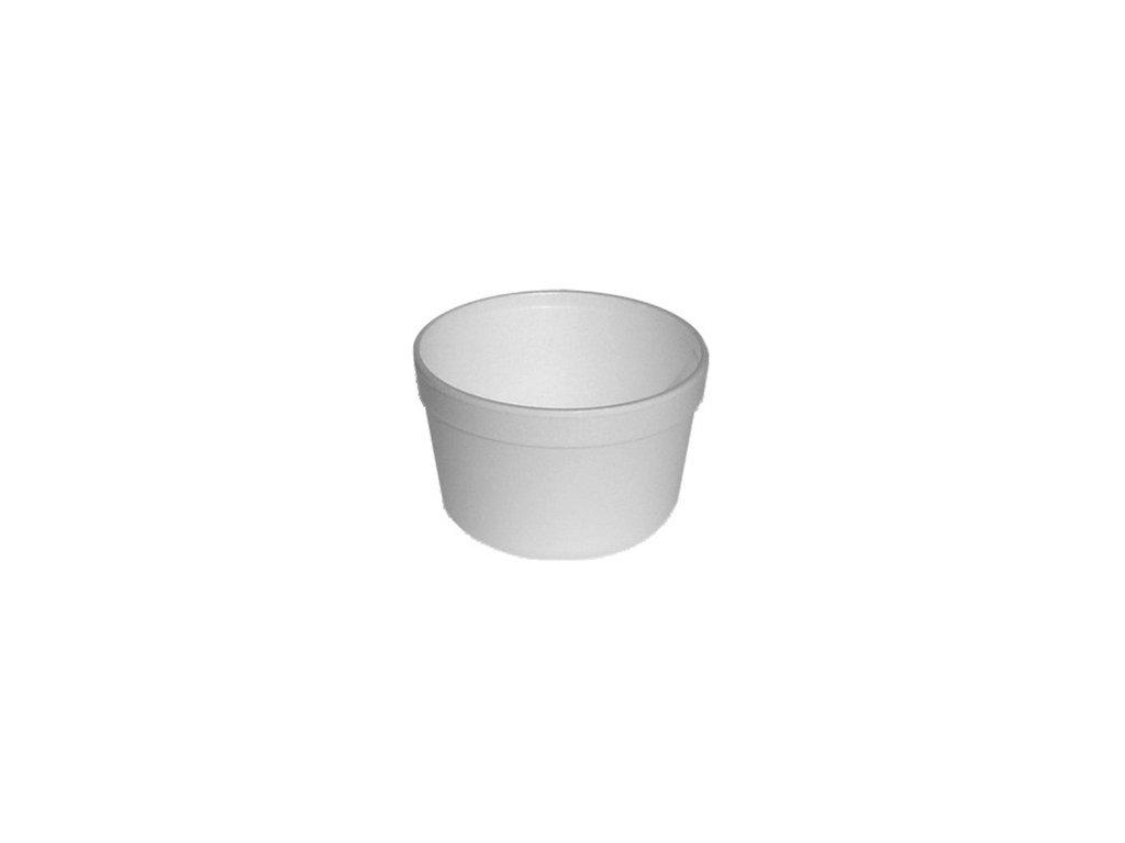 Termo miska kulatá bílá 460ml (EPS) Ø 11,5x7,4cm /25 ks