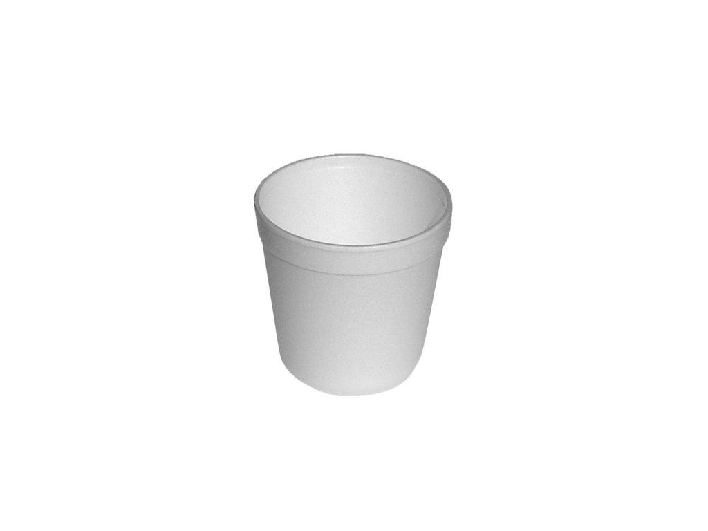 Termo miska kulatá bílá 550ml (EPS) Ø 11,5x9,3cm /25 ks