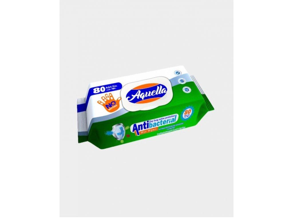 Antibakteriální vlhčené ubrousky 80 ks