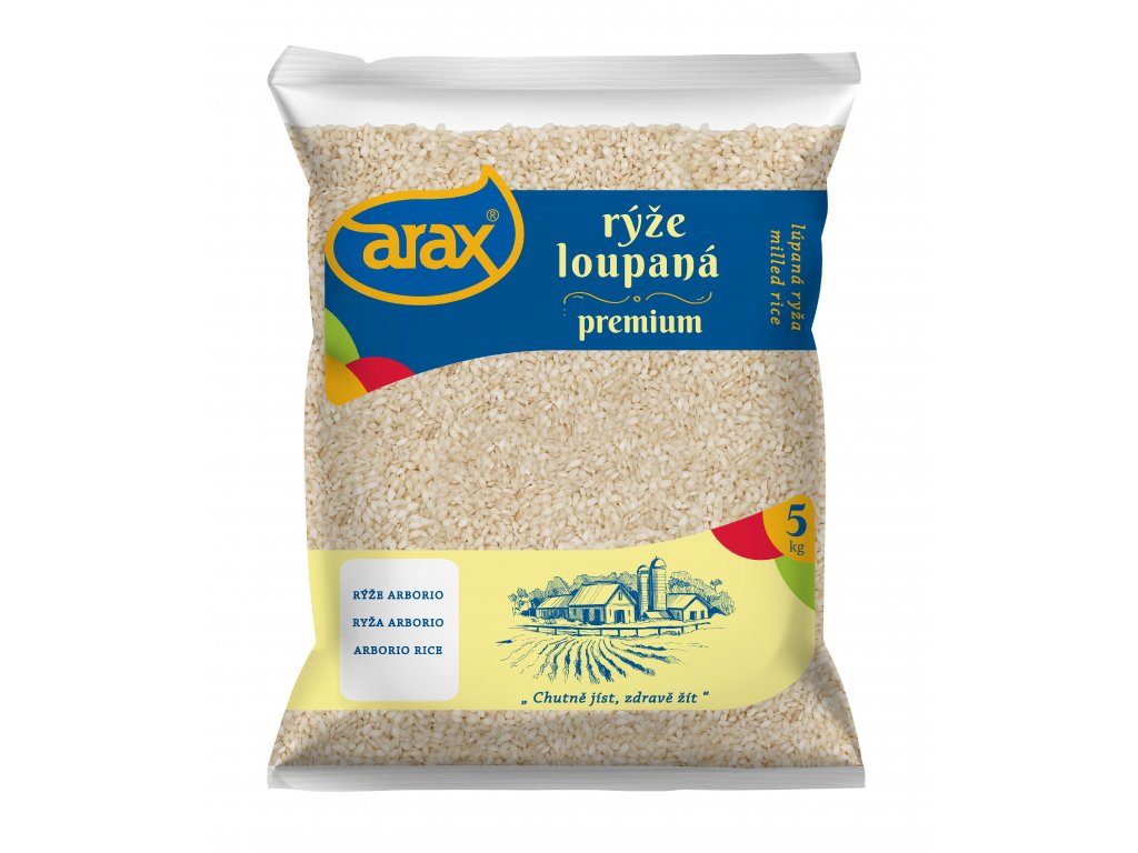 ARAX Rýže arborio risotto 5 kg 3Dv1 mockup