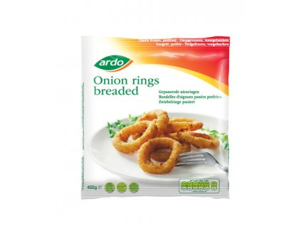 Ardo breaded onion rings pre fried pack