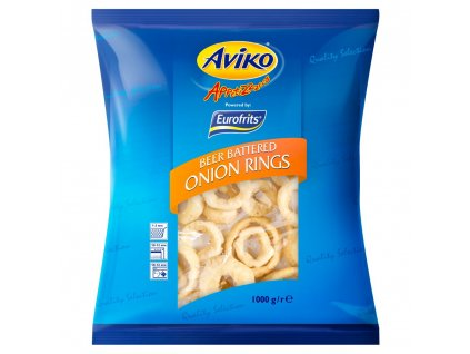 Aviko Beer Battered Onion Rings 1kg (Pack size 1kg)