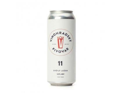 Pivo Vinohradská 11 světlý ležák 4,5% 0,5L plech