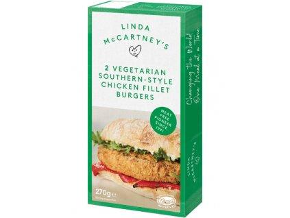 vegetarian southern style chicken burger packshot