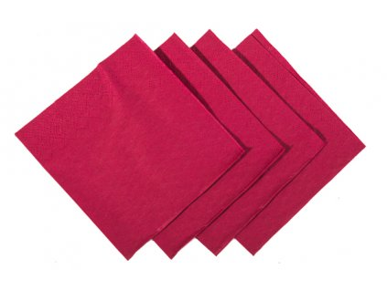 Burgundy cocktail napkins