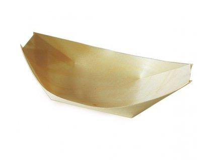 Fingerfood miska lodička (Dřevo) 21,5x11cm /100 ks