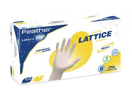 Feather white Latex gloves