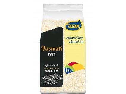 ARAX Rýže dlouhozrnná basmati extra long 1kg 3Dv2