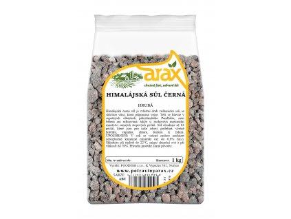 ARAX Sůl himálajská černá hrubá 1kg 3Dv2