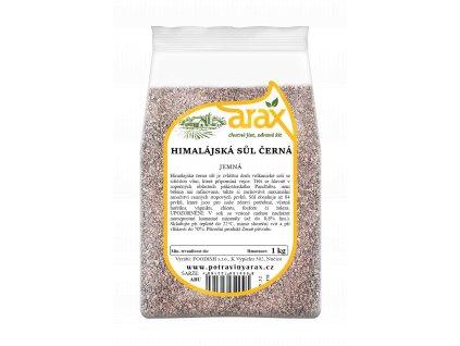 ARAX Sůl himálajská černá jemná 1kg 3Dv2