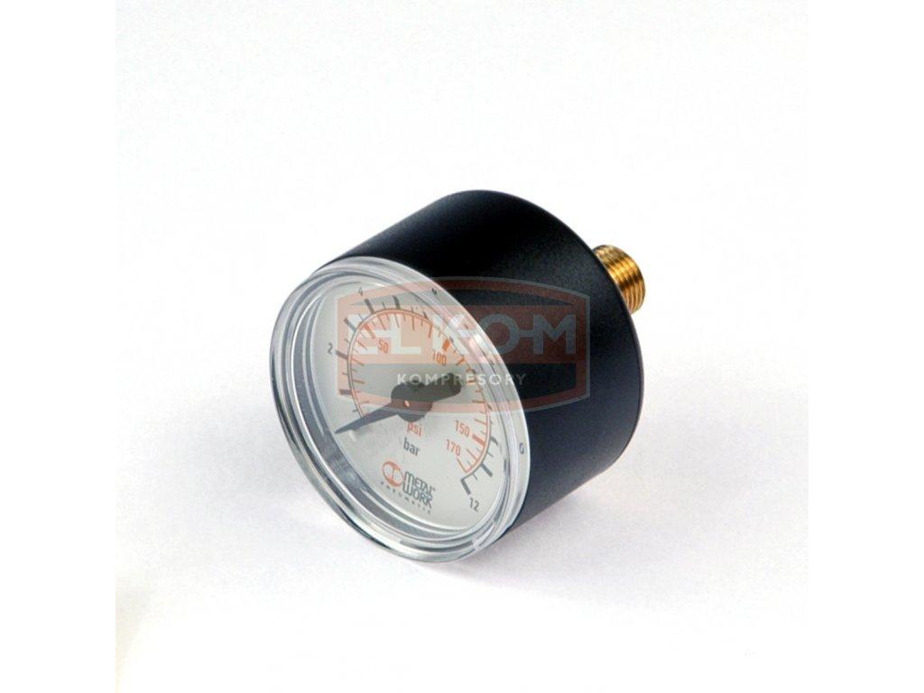 Manometr zadní 40 mm, rozsah 0 - 12 bar