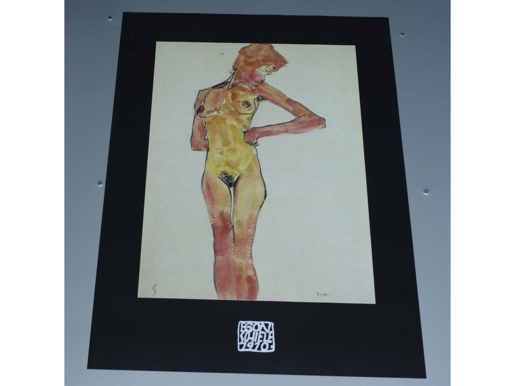Plakat Egon Schiele stojici