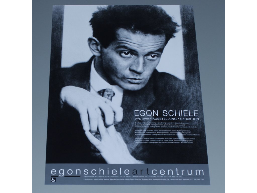 Plakat ESAC Egon Schiele vystava