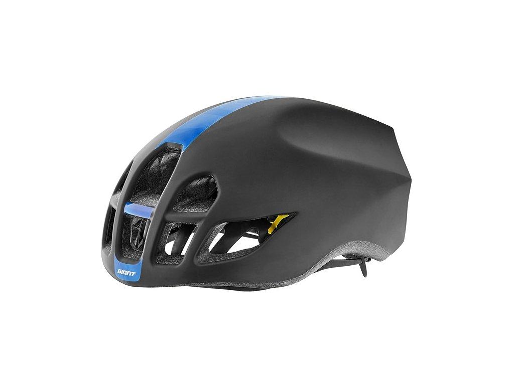 Cyklistická přilba GIANT PURSUIT, matte black/blue pattern