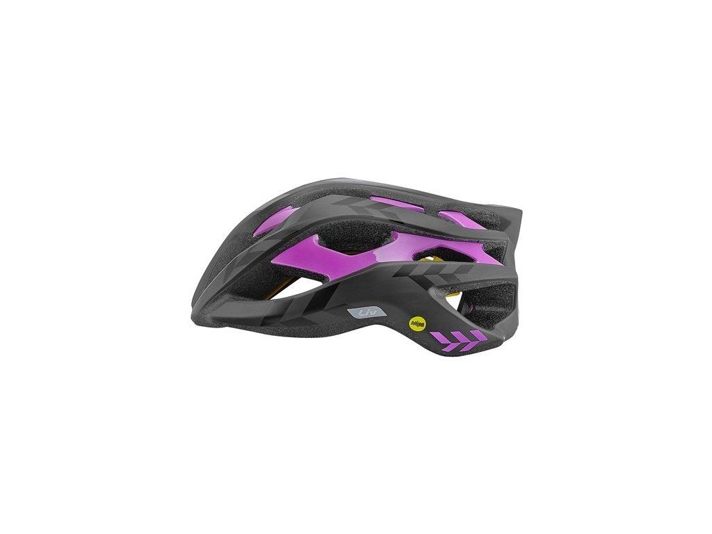 Cyklistická přilba LIV REV MIPS, matte black/gloss purple
