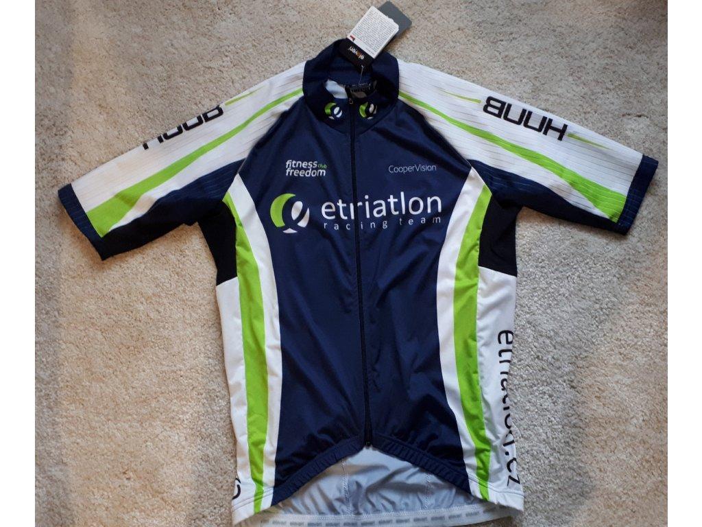 Pánský klubový cyklistický dres Evo- modrá/zelená