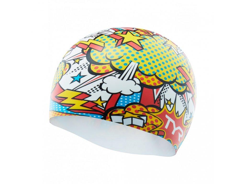 comic action swim cap