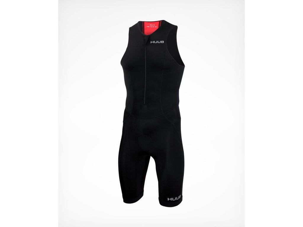 Men s ESSENTIAL Tri Suit Black Front 45 1500x