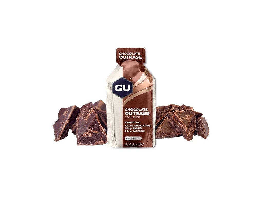 GU Energy Gel 32 g Chocolate Outrage 1 SÁČEK (balení 24ks)