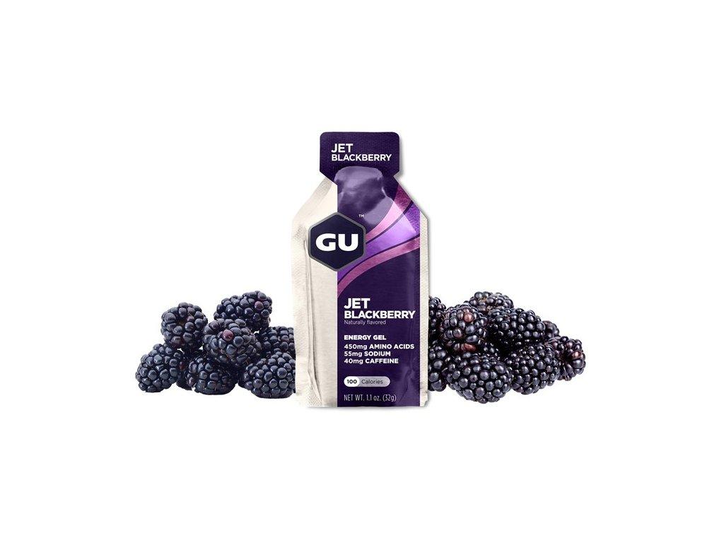 GU Energy Gel 32 g - Jet Blackberry 1 SÁČEK (balení 24ks)