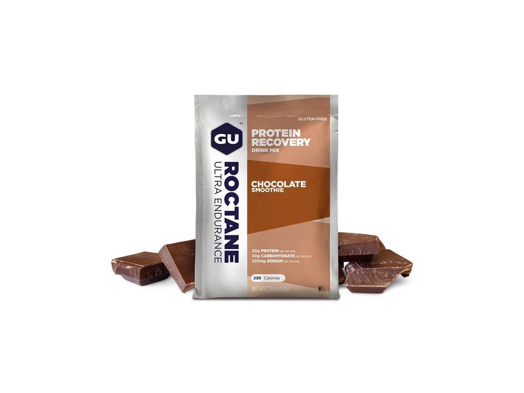 GU Roctane Recovery Drink Mix 62 g - Chocolate Smoothie SÁČEK