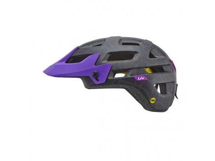 Cyklistická přilba LIV INFINITA MIPS, matte black/purple
