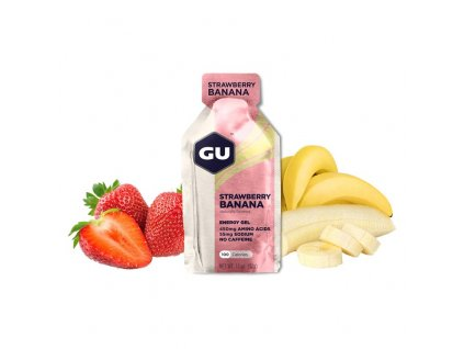 GU Energy Gel 32 g Strawberry/Banana 1 SÁČEK (balení 24 ks)