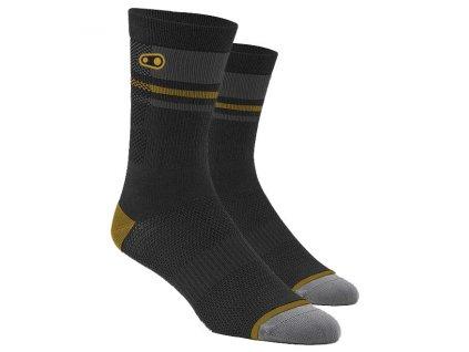crankbrothers x 100 trail socks blackgoldgrey 1 826588
