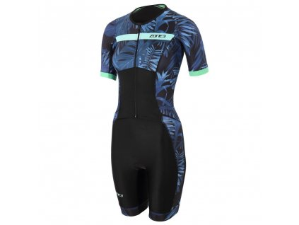 Zone3 Triwear Activate 2B SS Trisuit Womens Cutout Hawaiia Front 2048x