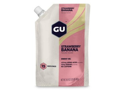 GU Energy Gel Bulk Serve 15 Servings Gels Strawberry Banana 124100 1