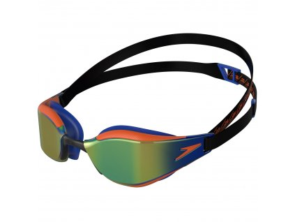 speedo fastskin hyper elite mirror junior goggles black dragon fire blue flame 965763