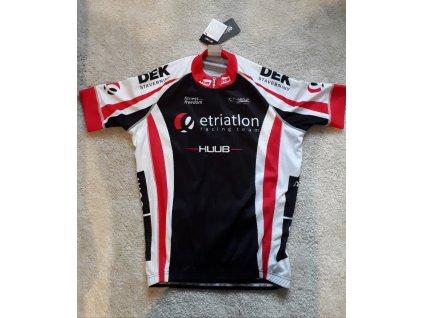 Pánský klubový cyklistický dres Dany- černá/červená